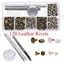 silver bronze rivets tubular metal