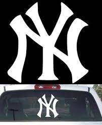 Ny Yankees Big Rear Window Decal Buy Online In Mauritius At Desertcart