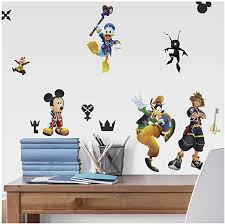 Roommates Kingdom Hearts Peel And Stick Wall Decals Black Yellow Blue Amazon Com