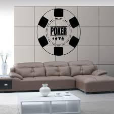 Casino Sticker Gambling Decal Gamble Poker Posters Vinyl Wall Decals Home Decoration Decor Mural Casino Sticker Vinyl Wall Decals Decoration Muralename Wall Decals Aliexpress