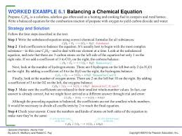 worked example 6 1 balancing a chemical