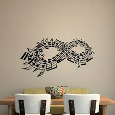 Wall Decal Music Note Decals Music Stuff Infinity Symbol Wall Etsy