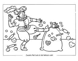 Kleurplaat Sinterklaas Kleurplaat Sinterklaas Snoepgoed