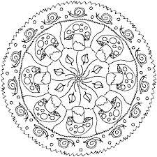 Mandala Paddenstoelen Slakken Kleurplaten Adult Coloring