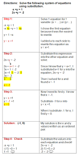 substitution method to solve systems