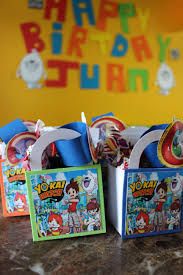 Yokai Watch Favor Bags Yokai Birthday Pokemon Birthday Party