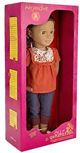 Amazon.com: Our Generation Alejandra 18-Inch Doll with Crochet Shirt,  Cuffed Blue Jeans, Red Shoes and Hair Ribbons: Toys & Games