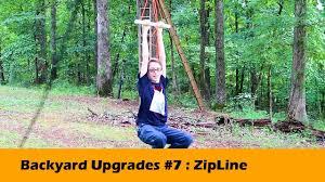 homemade zipline diy backyard