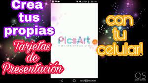 Diy Como Hacer Tarjetas De Presentacion Con Picsart Youtube
