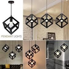 square cube shape hanging light pendant