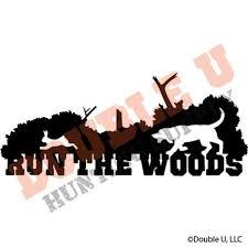 Run The Woods Rabbit Decal