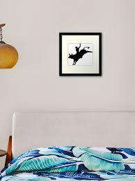 Bull Rider Framed Art Print By Sweetsixty Redbubble