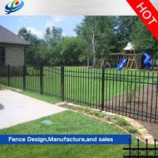 China Prefabricated Small Garden Solid Steel Metal Safety Steel Picket Fencing Panel Aluminum China Metal Fence And Garden Fence Price