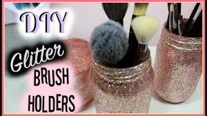diy glitter brush holders you
