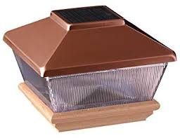Amazon Com Copper Top Solar Led Light 4 X 4 Post Caps For Bridges Fences Decks Posts Patio Deck Lights Garden Outdoor