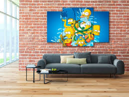 The Simpsons Wall Art Etsy