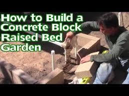 concrete block raised bed garden
