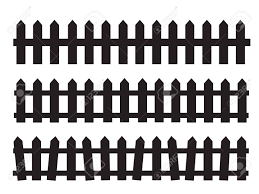 Silhouette Black Fence Element Fence Gate Graphic Royalty Free Cliparts Vectors And Stock Illustration Image 131159422