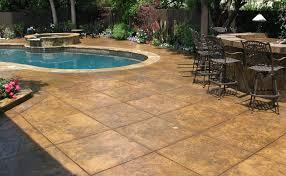 stamped concrete patio designs pics