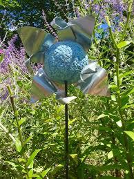 art metal garden stake flower garden