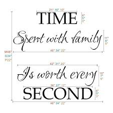 Geckoo Time Spent With Family Is Worth Every Second Family Lettering Vinyl Wall Decal Without Clock And Picture Frame Prettyhomedecor