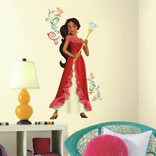 Roommates 5 In X 19 In Princess Elena Of Avalor Giant 9 Piece Peel And Stick Wall Decals Rmk3295gm The Home Depot