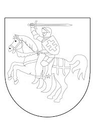 Kleurplaat Ridder Te Paard In Schild Gratis Kleurplaten Om Te