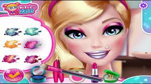 princess barbie makeup salon fun