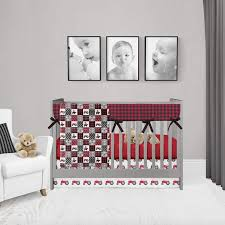 red tractor baby bedding