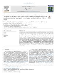 tary protein lipid ratio on growth