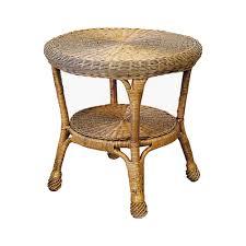 windsor wicker round side table cobra