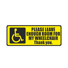 Yjzt 17 7cm 6 7cm Disabled Sign Disability Mobility Wheelchair Pvc Car Sticker Decal 11 00083 Car Stickers Aliexpress