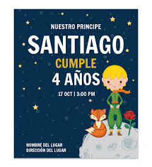 Invitacion Cumpleanos Principito Luna En 2020 Invitaciones De