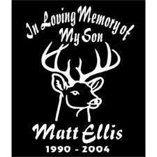 Oracal In Loving Memory Of Decal Two Personalized Deer Decals Car Window Vinyl Sticker