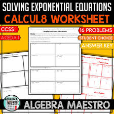 solving exponential equation calcul8
