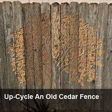Up Cycle An Old Cedar Fence Carvewright