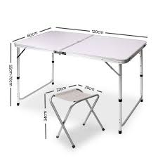 folding camping table homebase for