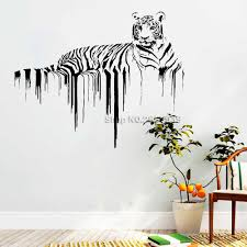 New Arrival Tiger Wall Decals African Wild Pride Animals Stickers Designs Art Office Home Decoration Wall Murals Removable Lc780 Wall Stickers Aliexpress