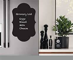 Amazon Com Wall Sticker Decal Mural Window Vinyl Decal Quote Art Fridge Sticker Chalkboard Waterproof Chalk Board For Fridge Home Improvement