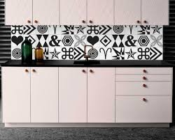 Modern Geometric Black Tiles Wall Stickers Vinyl Decal Kitchen Bathroom Cr005 Home Garden Decor Decals Stickers Vinyl Art