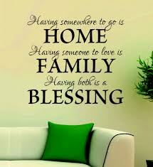 art decal wall decal life quotes home family blessing alpha