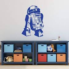 Amazon Com R2d2 Wall Decal Star Wars Personalized Droid Sticker For Decorating Kids Room Playroom Bedroom Birthday Party Handmade