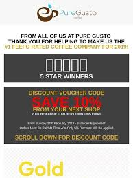 puregusto co uk email newsletters shop s discounts and