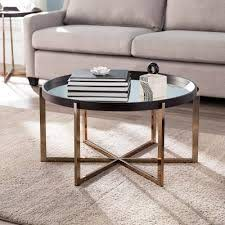round mirrored coffee table z gallerie