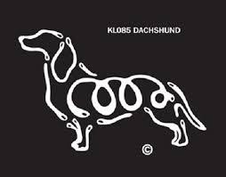 Raining Cats And Dogs Dachshund K Lines Window Tattoo