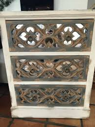 beaumont lane 3 drawer mirrored accent