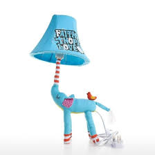 Shop Blue Elephant Lamp Uk Plug Animal Lamp Kids Table Lamp Night Light For Kids Lampshade For Children Bedroom Nursery Room With Led B Online From Best Arts Crafts On Jd Com