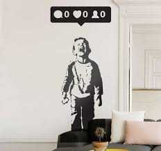 Nobody Likes Me Banksy Wall Decal Tenstickers
