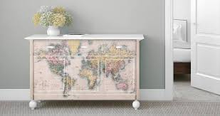 Old World Map Dry Erase Furniture Decals Dezign With A Z