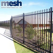 China Galvanized Square Tube Steel Fence Post China White Wrought Iron Fence Steel Picket Fence